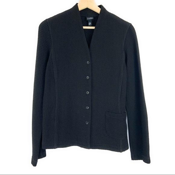 Eileen Fisher Jackets & Blazers - Eileen Fisher Black Waffle Textured Blazer